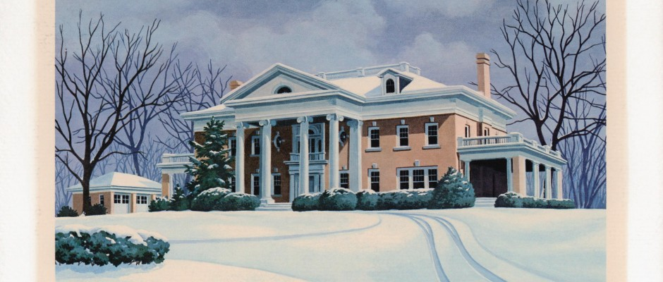 Hawthorn Hill in Winter - painting by RW Schmidlapp '72